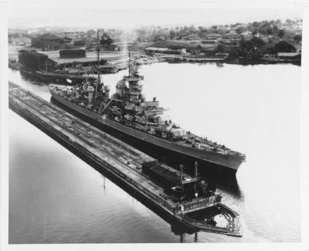 Prinz Eugen transiting the Panama Canal