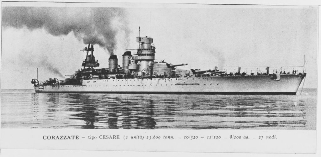 The Italian battleship Guilio